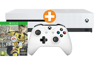 MICROSOFT XBox One S Bundle 500GB weiß inkl FIFA 17 (Download-Code)