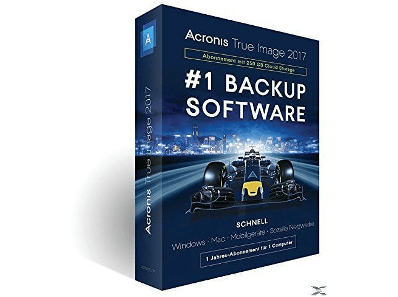Acronis True Image 2017 - 250 GB Cloud (1 Computer)