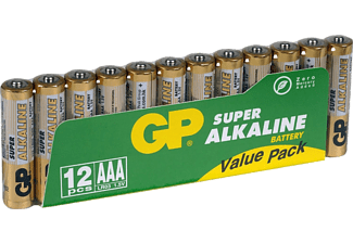 GP BATTERIES AAA LR03 batterijen Super Alkaline 12 stuks (030.24AS12)