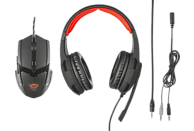 TRUST 21472 GXT 784 Gaming Headset & Mouse Gaming Headset und Gaming Mouse Schwarz/Rot
