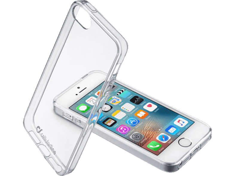 CELLULAR LINE Clear Duo , Backcover, Apple, iPhone 5, iPhone 5s, iPhone SE, Kunststoff, Transparent