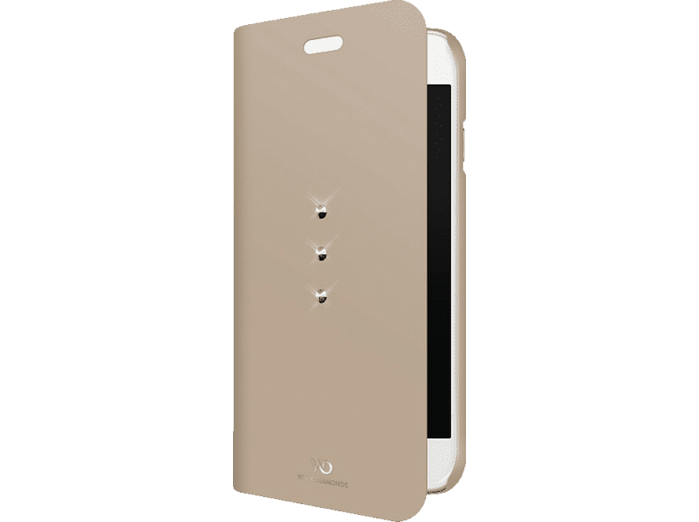 WHITE DIAMONDS Crystal , Bookcover, Apple, iPhone 7, Mikrofaser/Polycarbonat/Polyurethan, Gold