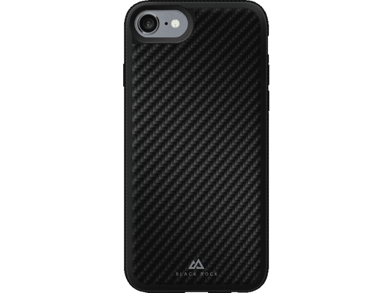 BLACK ROCK Material , Backcover, Apple, iPhone 7, Carbon/Metall/Polycarbonat/Thermoplastisches Polyurethan, Schwarz