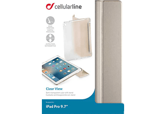 CELLULAR LINE Clear View, Bookcover, iPad Pro, 9.7 Zoll, Gold
