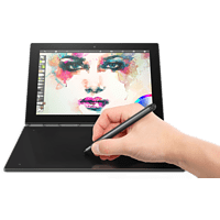 LENOVO Yoga Book, 2-in1 Tablet mit 10.1 Zoll Display, Atom™ x5 Prozessor, 4 GB RAM, 64 GB eMMC, Intel® HD-Grafik 400, Schwarz