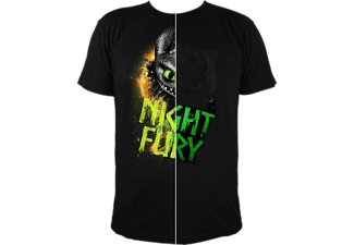 Dragons - Ohnezahn Night Fury - T-Shirt 9-10 Jahre