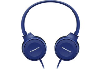 PANASONIC RP-HF100ME-A, On-ear Kopfhörer, Headsetfunktion, Blau