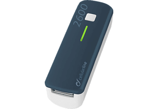 CELLULAR LINE 37127, Powerbank, 2600 mAh, Blau