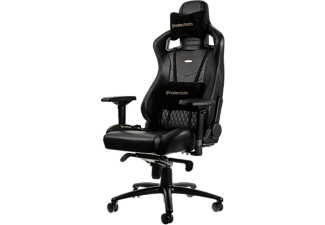 NOBLECHAIRS Epic Series Real Leather Gaming Chair - Svart