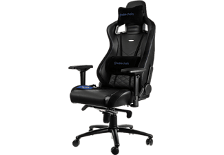 NOBLECHAIRS Epic Series Faux Leather Gaming Chair - Svart/Blå
