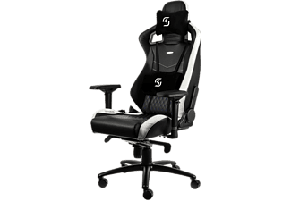 NOBLECHAIRS Epic Series Faux Leather Gaming Chair - Svart/Vit/Blå