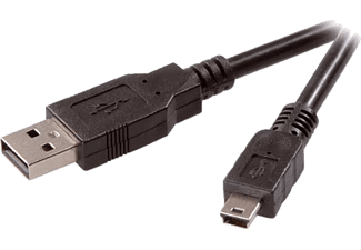 VIVANCO 45224 CC U4 1.8 m USB A-USB Mini B Kablosu