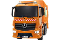 JAMARA 405079 Mercedes Antos 1:20 2.4 GHz Müllwagen, Orange