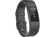 FITBIT Charge 2 Special Edition Large, Fitnesstracker, 165-206 mm, Schwarz
