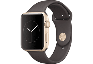 APPLE Watch Series 2 42mm goud aluminium / cacao sportbandje