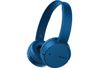 SONY MDR-ZX220, On-ear Kopfhörer, Near Field Communication, Headsetfunktion, Bluetooth, Blau