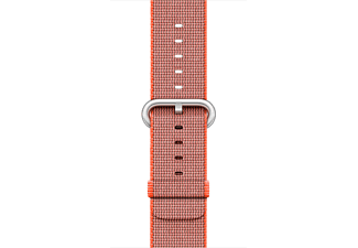 APPLE 38 mm vävt nylonarmband - rymdorange/antracit