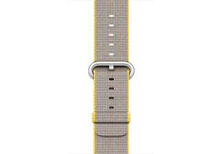 APPLE 38 mm vävt nylonarmband - gul/ljusgrå