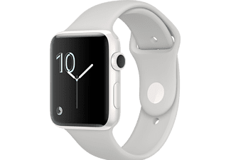 APPLE Watch Series 2, 38mm Keramikboett i vitt, sportband i cirrus