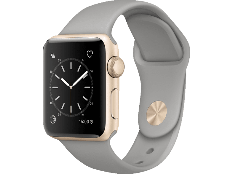 APPLE  Watch Series 2 Smart Watch Aluminium, Sportband, 38 mm, Gold/Beton