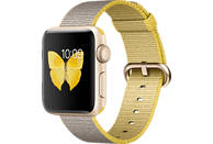 APPLE Watch Series 2 Smart Watch Aluminium Nylonband, 38 mm, Gold/Gelb/Hellgrau