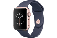 APPLE  Watch Series 2 Smart Watch Aluminium, Sportband, 42 mm, Rose Gold/Mitternachtsblau