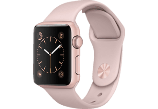 APPLE Watch Series 1, Smart Watch, Polymer, 38 mm, Rosegold/Pink Sand
