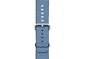 APPLE Nylonband, Armband, Apple, Watch (42 mm Gehäuse), Navy/Blau