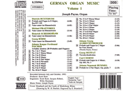Payne Joseph - Deutsche Orgelmusik Vol.1 [CD]