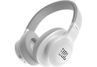 JBL E55BT, Over-ear Kopfhörer, Headsetfunktion, Bluetooth, Weiß