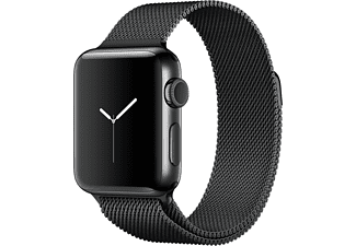 APPLE Watch Series 2 38mm spacezwart roestvrij staal / spacezwart Milanees bandje
