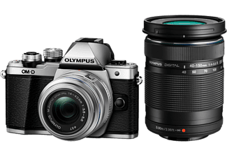 OLYMPUS Hybride camera E-M10 Mark II Silver + 14-42 mm + 40-150 mm (V207055SE000)