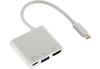 HAMA 3in1-USB-C, Multiport-Adapter