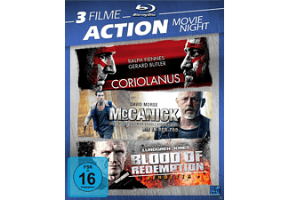 3 Filme Action Movie Night - Coriolanus / McCarnick / Blood of Redemption - (Blu-ray)