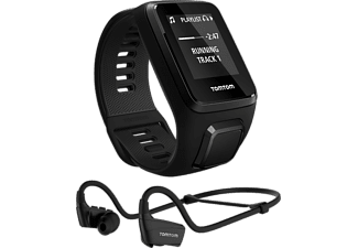 TOMTOM Montre sport Spark 3 Cardio + Music Noir Large + Casque Bluetooth (1RKM.002.10)