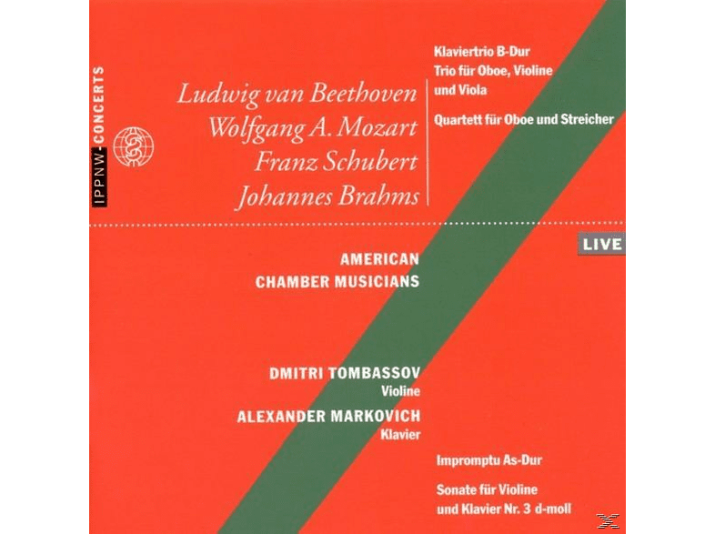 Markovich, American Chamber Musicians, Tombassov - Beethoven,Mozart,Schubert,Brahms [CD]