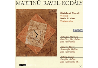 Christoph Streuli, David Riniker - Marinu-Ravel-Kodaly - (CD)