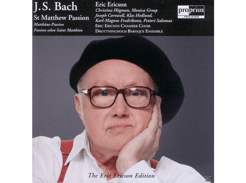 Joseph Cornwell, Christina Högman, Drottningholm Baroque Ens - J.S. Bach: St Matthew Passion / The Eric Ericson Edition Vol [CD]