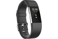 FITBIT Charge 2 Large, Activity Tracker, 165-206 mm, Schwarz/Silber