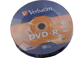 VERBATIM 43729 DVD-R 4.7GB 16X 10'lu Shrink