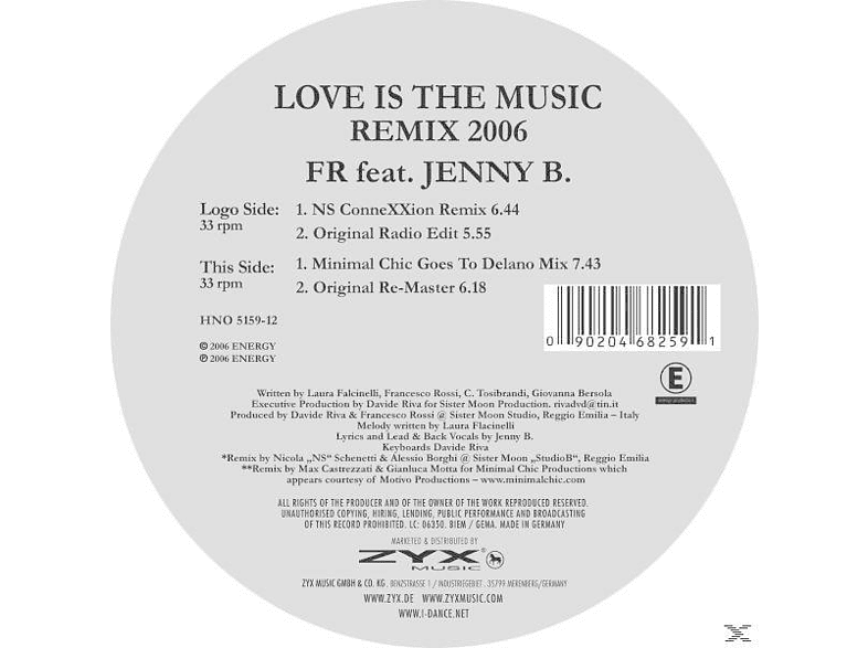 FR FEAT.JENNY B. - Love Is The Music-Remix 2006 [Vinyl]