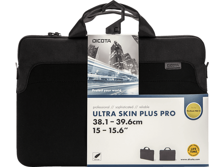 DICOTA Ultra Skin Plus PRO Notebookhülle, Sleeve, 15.6 Zoll, Schwarz