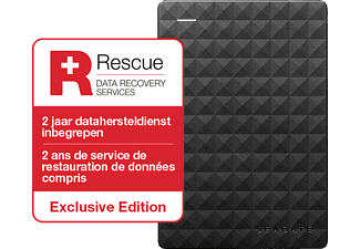 SEAGATE Externe harde schijf 2 TB Expansion Portable + Data Recovery (STEA2000200)