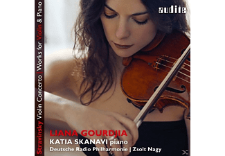 Liana Gourdjia, Katia Skanavi - WORKS FOR VIOLIN & PIANO/VIOLIN CONCERTO - (CD)