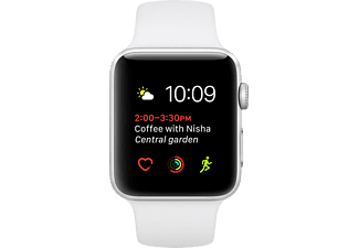 APPLE Smart Watch 1.42mm Silver Aluminium Case + Beyaz Sport Band