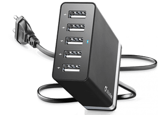 CELLULARLINE Netadapter USB Energy Station 5 USB-poorten (ACHUSB5STAT8AK)