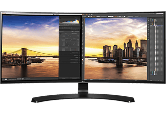 "LG 34UC88-B 34"" IPS ívelt ultrawide monitor HDMI, DisplayPort"