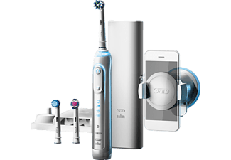 Cepillo Eléctrico - Oral B Genius 8300 Cross Action + Smartholder, Blanco