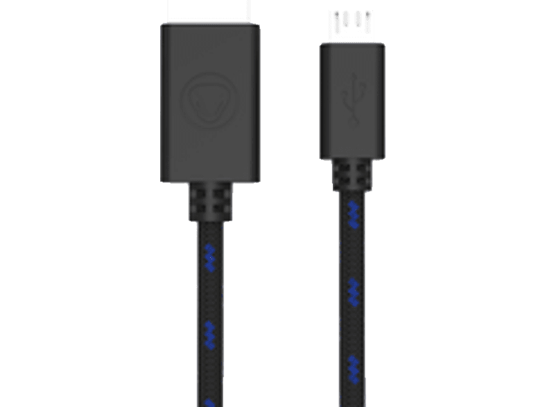 SNAKEBYTE PS4 USB Charge Cable 3m Kabel, Blau/Schwarz