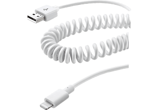 CELLULAR LINE 35368, Spiral-Datenkabel, Weiß